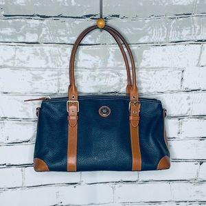 Dooney & Bourke Domed Blue/Brown Satchel